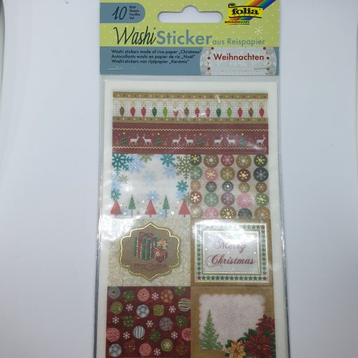 WashiSticker Craciun Folia 2612