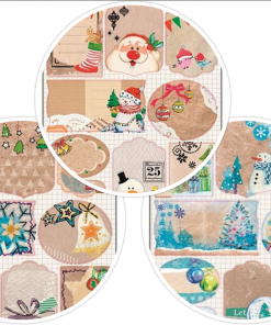 Etichete cadouri vintage Craciun Andel Prerov 219