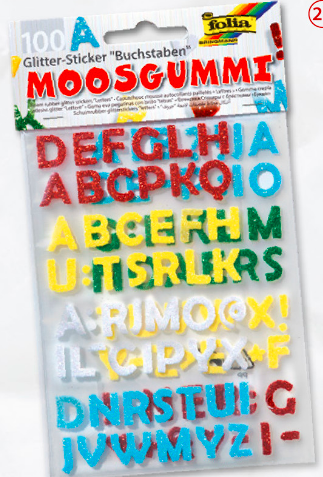 Stickere moosgummi glitter Folia | 8 modele