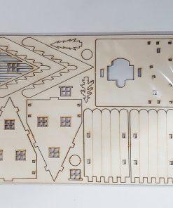 Casuta lemn placaj cu LED 354002