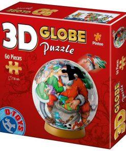 D-Toys Puzzle Crăciun 3D Globe 60 piese Nr.67609-04