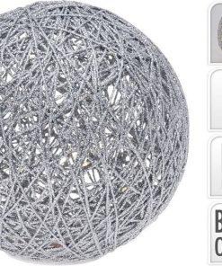 Decoratiune de Craciun Glob cu glitter si Led 603631