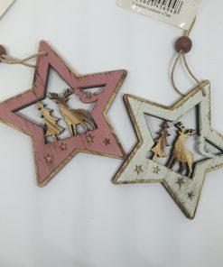 Ornament steluta din lemn Andel Prerov 4767