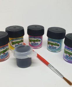 Set 5 culori pentru ceramica si sticla 12 ml