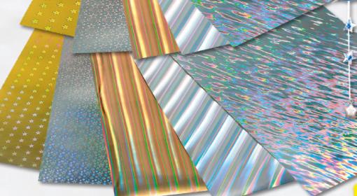 Set 5 cartoane holografice Folia 300409