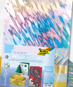 Set 5 cartoane holografice Folia 300409