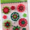 Flori adezive fetru Folia 527 diverse culori