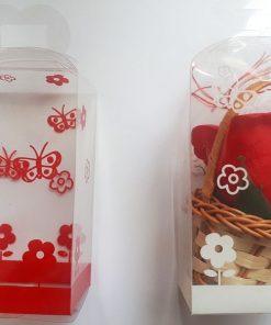 Cutie de plastic pentru flori sapun ACC38