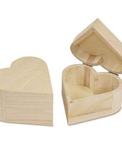 Meyco Cutie de lemn in forma de inima 34588