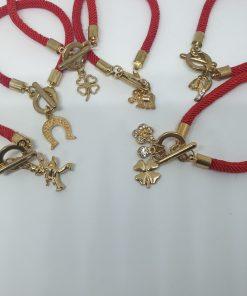 Mărțișor auriu Brățară Șnur Împletit diverse modele