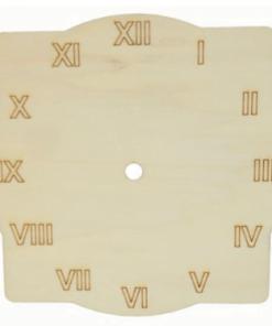 Cadran lemn rotund-patrat PentArt 24304