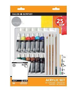 Daler Rowney Set pictura culori acrilice 25 piese