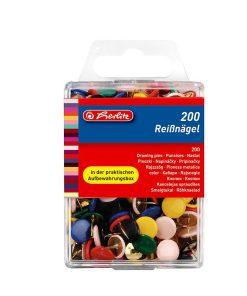 Herlitz Pioneze metalice 200 bucati culori asortate