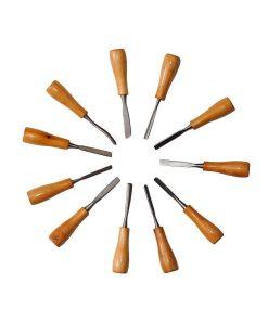 Set 11 dalti pentru lemn diverse forme 617064