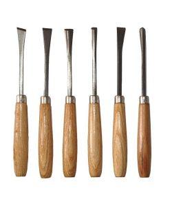 Set 6 dalti pentru lemn diverse forme 617063