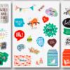 Set petice autoadezive Folia 1179 | 3 modele