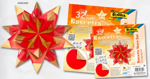 Hârtie origami Stea Folia diverse culori 2 marimi