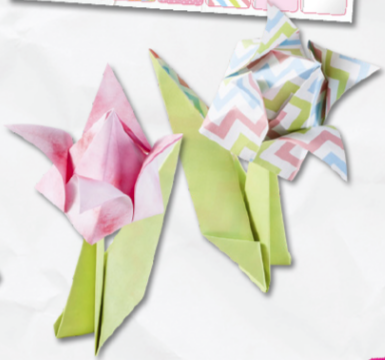 Hartie origami model Flori Folia 40119