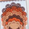 Rama adeziva rotunda din fetru Folia 5229   2 culori
