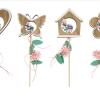 Decoratiuni lemn cu bat Andel Prerov 8735 4 modele