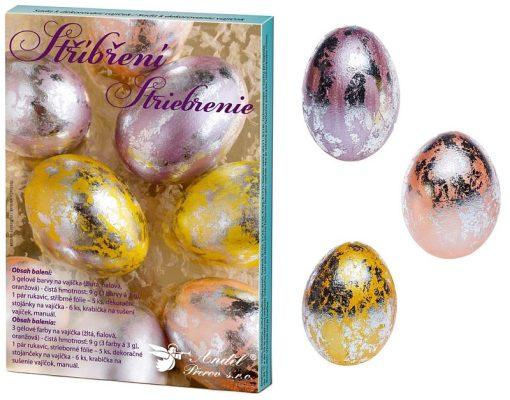 Andel Prerov - Set cu folie de argint pentru decorat Ouă 7728