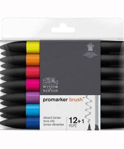 Set 12+1 markere Promarker Brush Culori intense