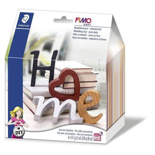 Set Fimo Soft 8025 litere HOME
