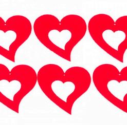 Inimi contur din fetru decorativ CFA-030