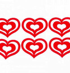Inimi din fetru decorativ CFA-032
