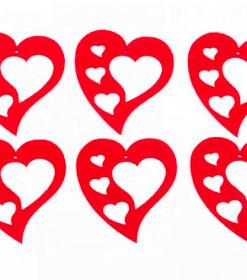 Inimi cu inimioare din fetru decorativ CFA-033