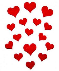 Inimioare mini din fetru decorativ CFA-034