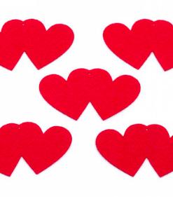 Pereche inimi din fetru decorativ CFA-227