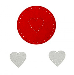 Cercuri creative din fetru Inimi 3 culori