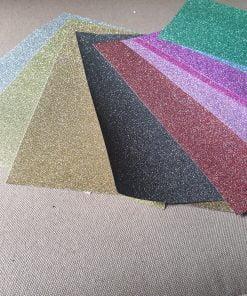Hartie glitter adeziva A4 coala diverse culori