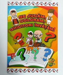 Carte de colorat Ne jucam, Coloram, Ghicitori Invatam