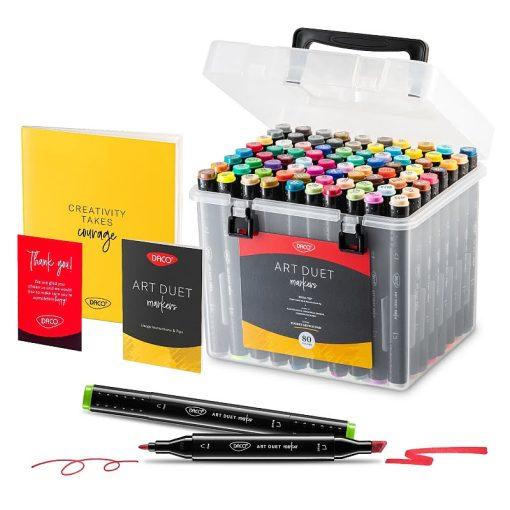 Daco Set 80 markere Art Duet MK680