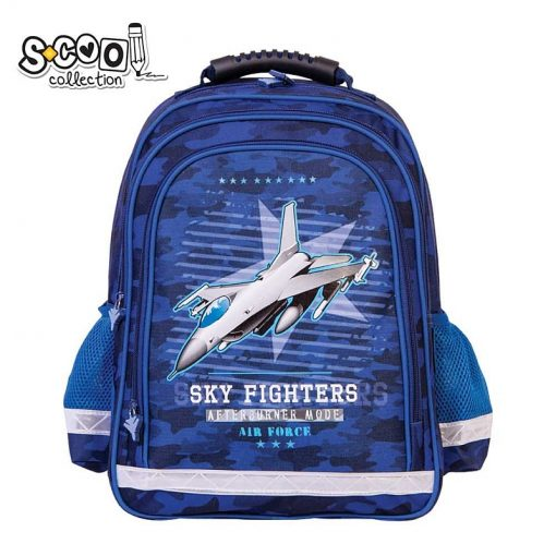 S-cool - Ghiozdan Ergonomic 38cm pentru baieti Sky Fighters SC1311