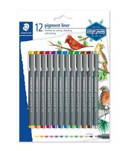 Staedtler Set 12 culori Pigment liner 308