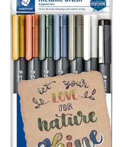 Staedtler - Set Marker tip Pensula culori metalice 8321 TB7