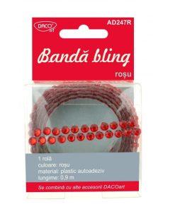 Bandă bling albastru și roșu DACO