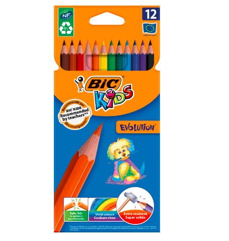 Creioane Evolution Bic set 12 sau 24
