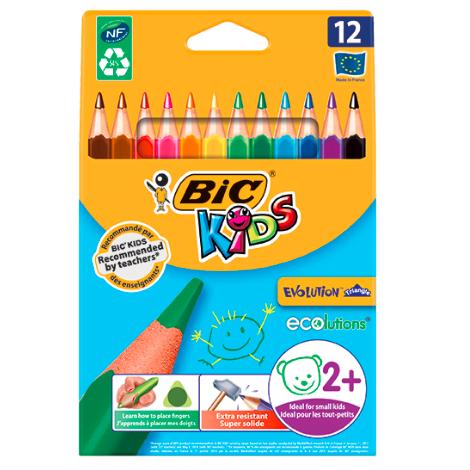 Creioane Evolution Triangle Bic set 12