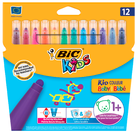 Carioci colorate KidCouleur Baby Bic set 12