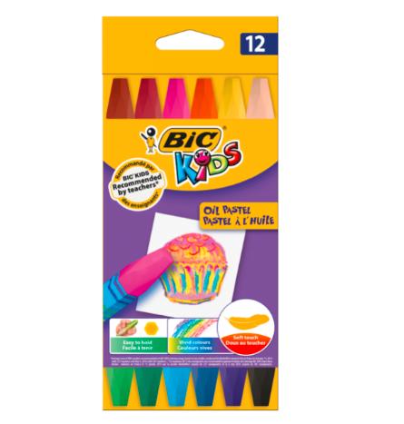 Creioane pastel Ulei Bic set 12