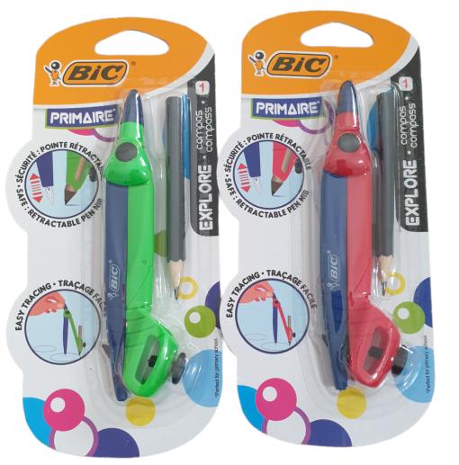 Compas Explore Bic 2 culori
