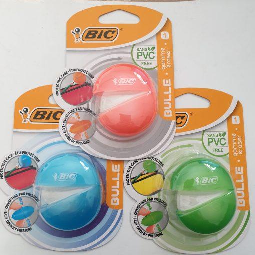 Bic Radiera Bulle | 3 culori diferite
