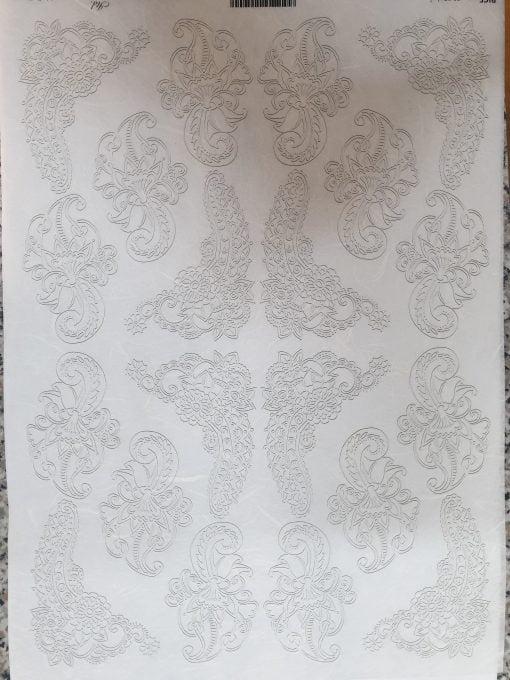 Dantela - Hartie de orez abstract ITD R557