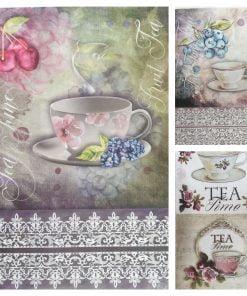 Ora ceaiului - Hartie de orez casa ITD | 3 modele