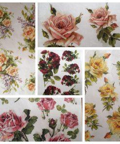 Trandafiri - Hartie de orez floral ITD | 6 modele