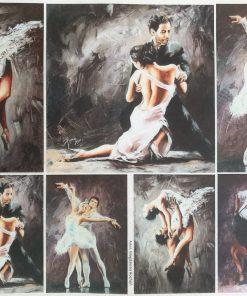 Dansatori - Hartie de orez persoane ITD R1231